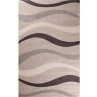 Concord Global Casa Contour 3-Foot x 5-Foot Accent Rug in Beige