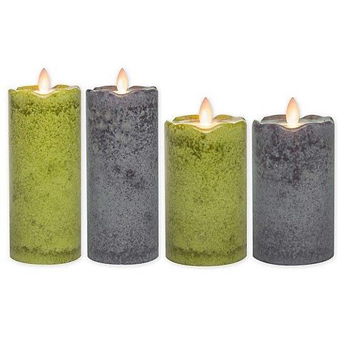 Mirage® Flickering Flame LED Pillar Candle - Bed Bath & Beyond