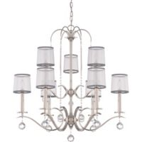 Whitney 9-Light Two Tier Chandelier in Silver