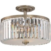 Quoizel® Mirage 3-Light Semi-Flush Mount Fixture in Gold