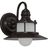 Quoizel® New England Small 1-Light Outdoor Wall Lantern in Bronze