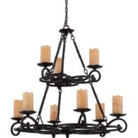 Armelle 9-Light Chandelier in Imperial Bronze