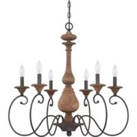 Quoizel 6-Light Auburn Chandelier in Black