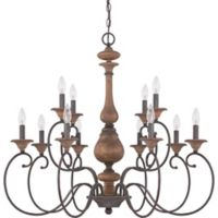 Quoizel Auburn 12-Light Chandelier with in Black