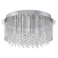 Platinum Collection Countess Large Flush Mount Light Fixture in Polished Chrome