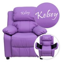 Flash Furniture Personalized Kids Recliner in Lavender Vinyl