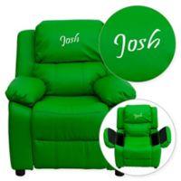 Flash Furniture Vinyl Kids Recliner in Green