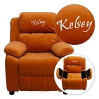 Flash Furniture Personalized Kids Recliner in Orange Microfiber