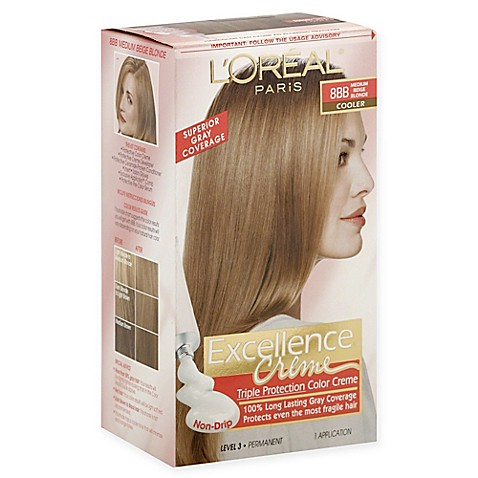 L Oreal Paris Excellence Crème Triple Protection Hair Color In 8bb Medium Beige