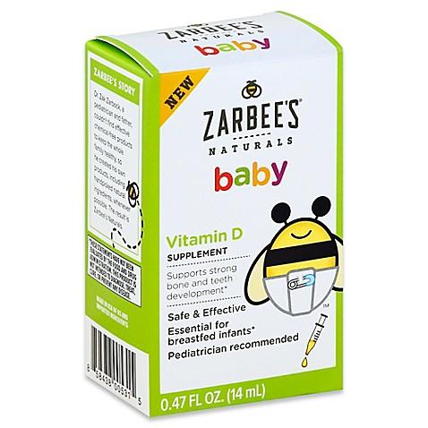 Zarbee S 174 Naturals Baby 47 Oz Vitamin D Supplement Bed