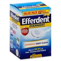 Efferdent® PM Overnight™ 90-Count Anti-Bacterial Denture Cleanser Tablets