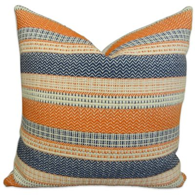plutus full range handmade 18inch square throw pillow in orange