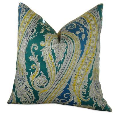 Fun Throw Pillows For Bed : Plutus Fun Paisley Homemade Square Throw Pillow Collection - Bed Bath & Beyond