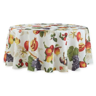 basics fruitique 70inch round tablecloth