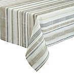 Basics Neutral Stripe 60-Inch x 84-Inch Oblong Tablecloth