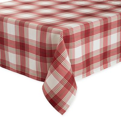 Awesome Basics Tuscan Plaid 70 Inch Square Tablecloth