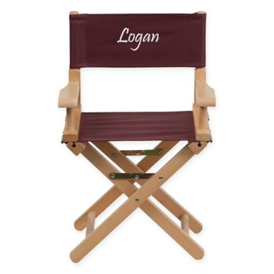 Seating U003e Flash Furniture Personalized Kids Wood Directors Chair In Brown