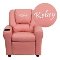 Flash Furniture Personalized Kids Recliner in Pink