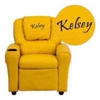 Flash Furniture Personalized Kids Recliner in Yellow
