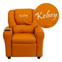 Flash Furniture Personalized Kids Recliner in Orange