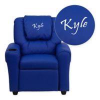 Flash Furniture Personalized Kids Recliner in Blue