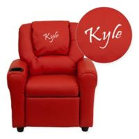 Flash Furniture Personalized Kids Recliner in Red