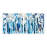 INK + IVY™ 4-Piece Ocean Breeze Blossom Canvas Wall Art
