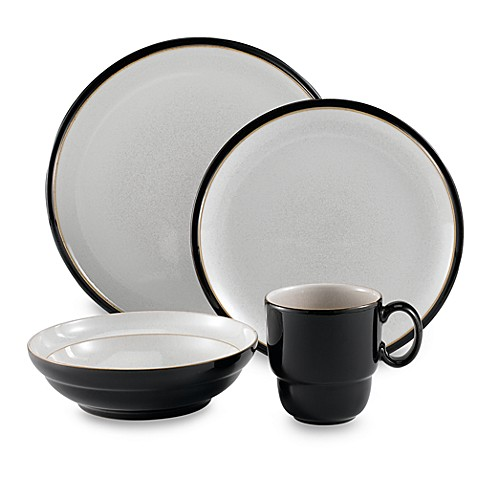 Everyday 16-Piece Dinnerware Set by Denby - Black Pepper  sc 1 st  Bed Bath u0026 Beyond & Everyday 16-Piece Dinnerware Set by Denby - Black Pepper - Bed Bath ...