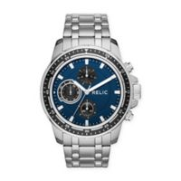 Relic® Heath Men's Multifunction Bracelet Watch in Stainless Steel