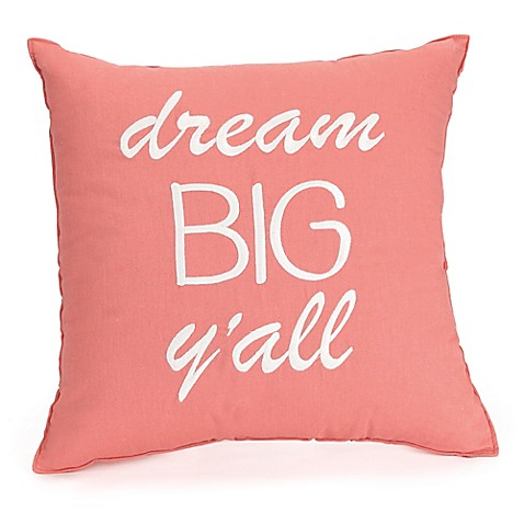 Jessica Simpson Spice Market Dream Big Square Throw Pillow in Coral - Bed Bath & Beyond