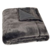 Safavieh Faux Silver Throw Blanket in Silver