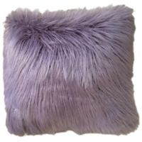 Thro Keller Faux Mongolian 16-Inch Square Throw Pillow in Purple