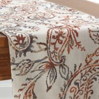 Watercolor 54-Inch Paisley Table Runner