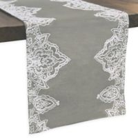 Simone Embroidered 72-Inch Table Runner in Grey
