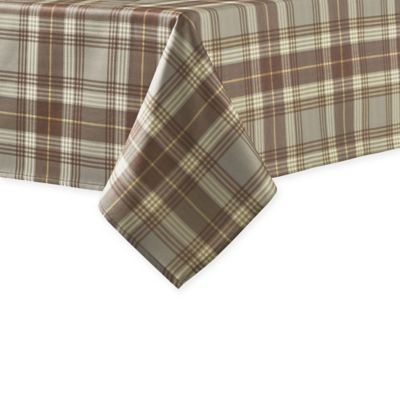 Beau J. Queen New York™ Livingston Plaid 70 Inch Round Tablecloth In Mocha
