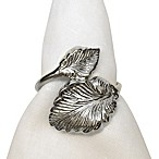 Leaf Motif Napkin Ring in Silver