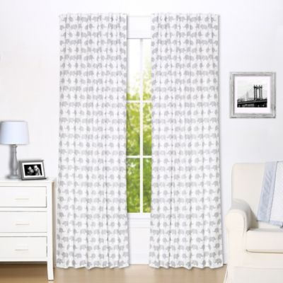 the peanut shell elephant blackout panel pair in grey