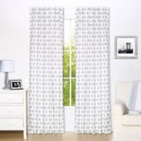 The Peanut Shell® Elephant Window Panel Pair in Grey