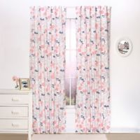 The Peanut Shell® Floral Window Panel Pair in Coral