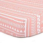 The Peanut Shell® Tribal Fitted Crib Sheet in Coral