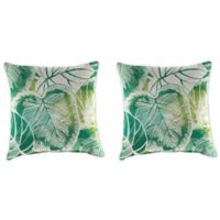 Outdoor 18-Inch Square Throw Pillow in Keycove Lagoon (Set of 2)