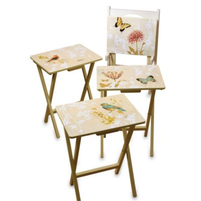 Natureu0027s Wonders 5-Piece Snack Table Set  sc 1 st  Bed Bath u0026 Beyond & Buy Snack Tray Table Sets from Bed Bath u0026 Beyond