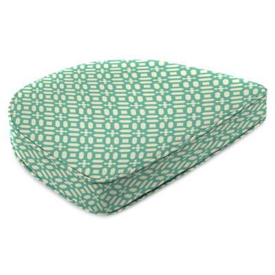 Bon Outdoor Contoured Boxed Seat Cushion In In The Frame Oasis