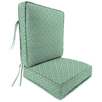 Charmant Outdoor Attached Deep Seat Cushion In In The Frame Oasis