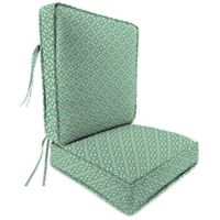 Outdoor Attached Deep Seat Cushion in In the Frame Oasis