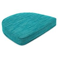 Outdoor Contoured Boxed Seat Cushion in Remi Lagoon