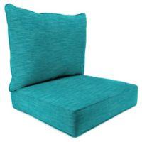 Outdoor 2-Piece Deep Seat Cushion in Remi Lagoon
