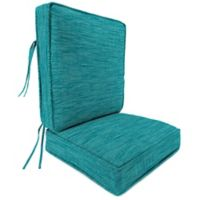 Outdoor Attached Deep Seat Cushion in Remi Lagoon