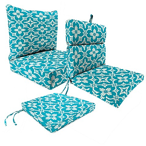 Outdoor Patio Cushions In Aspidora Turquoise Bed Bath Amp Beyond