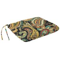 Outdoor Dining Seat Pad Cushion in Hadia Noir